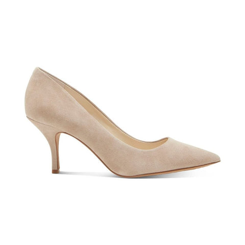 Vince Camuto Selindra Pointed-Toe Slip-On Pumps Wild Mushroom Nude