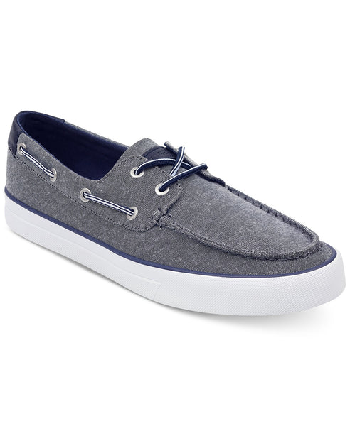Tommy Hilfiger Men's Pete's Dark Gray Slip-On Comfort Boat Shoe Sneaker