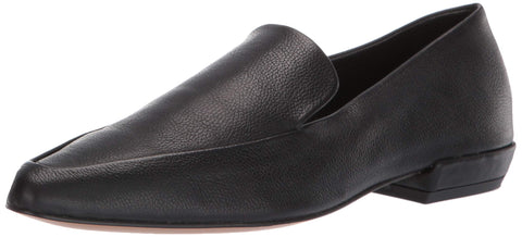STEVEN by Steve Madden Women's Haylie Loafer Black Leather Slip On Pointed Flats