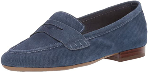 Aerosoles Women's Map Out Penny Loafer Denim Slip On Flat Loafers