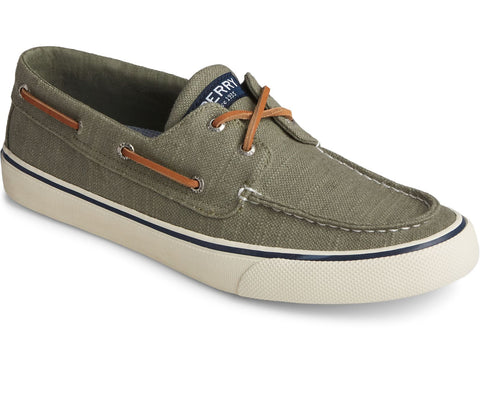 Sperry Bahama II Slip On Boat Shoe Loafers OLIVE