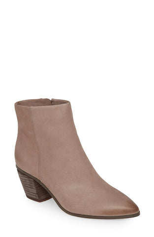 Vince Camuto Grasem Elephant Taupe Side zip Imported Pointed Toe Western Boot