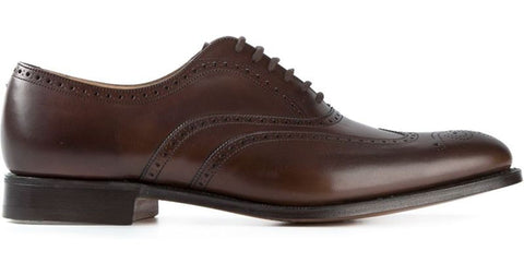 Churchs Polish Oxford Shoe Brown Leather Wintim Made In Englan Oxford