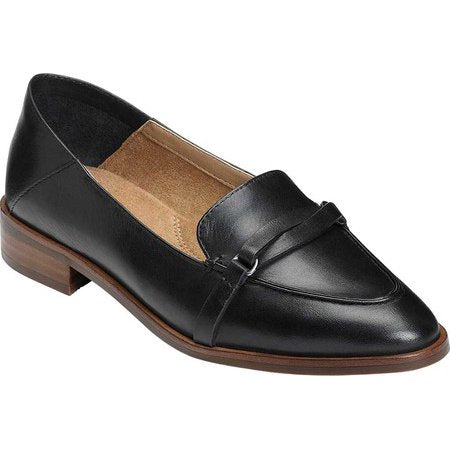 Aerosoles South East Black Shoe Wide Width Slip On Leather Loafers