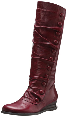 Miz Mooz Women's Bloom Fashion KNee High Leather Dress Wedge Boot