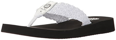 Yellow Box Women's Soleil Wedge Sandal White/Silver