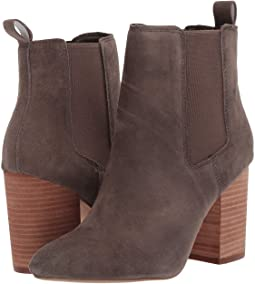 Steve Madden Women's Knoxi Pointed Toe Imported Side-zipper Bootie TAUPE SUEDE