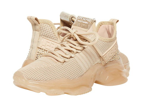 Steve Madden MAXIMA Lace Up Sneakers BLUSH MULTI Boyfriend Chunky Platform