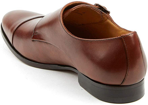 PAIR OF KINGS MEN'S MONK STRAP BRANDY JACK CASUAL MONK STRAP BUCKLE DRESS SHOES