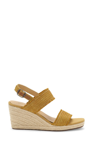 Lucky Brand Women's Minjah Espadrille Jute-Wrapped Wedge Sandal GOLDEN YELLOW