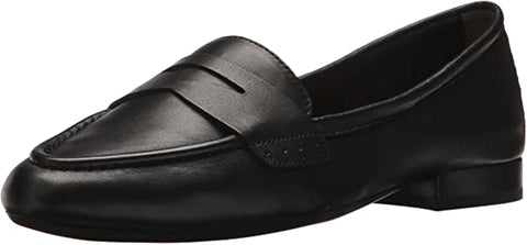 Aerosoles Women's MAP Out Loafer Black Slip On Flat Shoes Leather