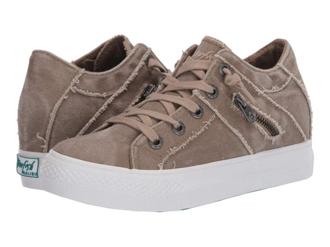 Blowfish Malibu Melondrop Lace-up Sneaker Taupe Hipster Smoked Twill