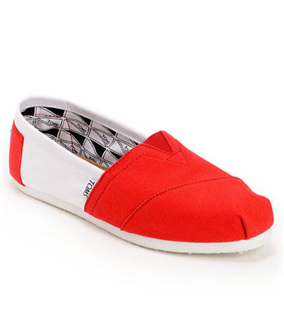Men's Toms Campus Classics University of Nebraska Shoes Red / White
