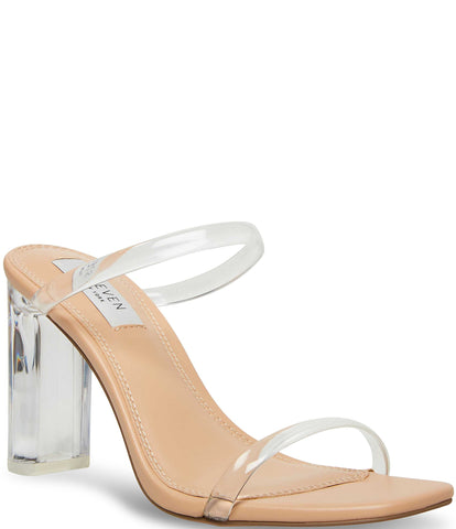 Steve Madden Women's Jacee Open toe Slide Heeled Sandal NUDE MULTI