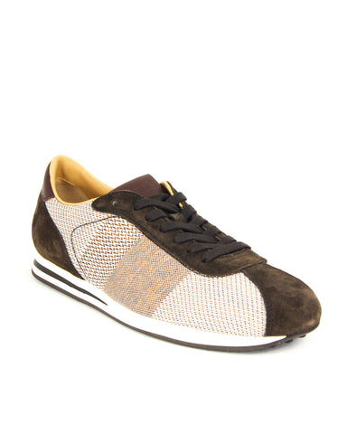 Tod's Men's Allacciato Shoes Leather Trainers Sneakers, T.MORO Brown Lace Up