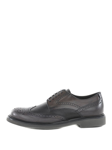 TOD'S Men's LEATHER BROGUE SHOES Black XXM0XI00C109RC4215