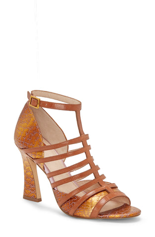 Louise et Cie Isora Caged Leather Pump Sandal MULTI/PEANUT