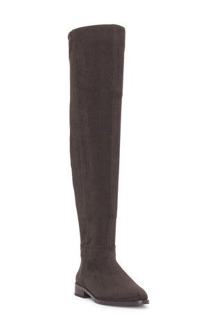 Vince Camuto Hailie Grey Pointed-Toe Over-the-Knee Suede Boots DARK SLATE