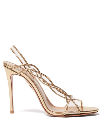 AQUAZZURA Swing 105 PVC Leather Sling Back Sandals