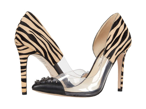 Jessica Simpson Women's Payve 2 Genuine Calf Hair d'Orsay Pump BLACK COMBO