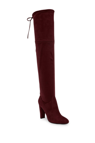 Charles By Charles David Sycamore Over-The-Knee Boots Merlot Burgundy Suede
