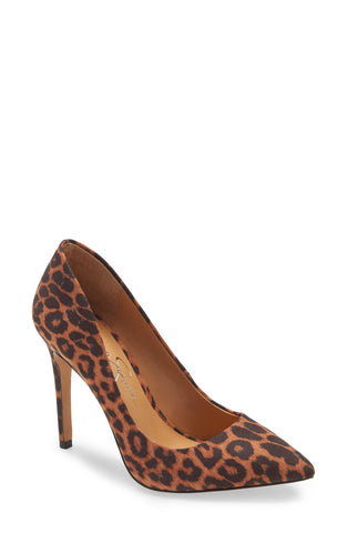 Jessica Simpson Pistelle Natural Leopard Print Pointy-Toe Sleek Stiletto Pump