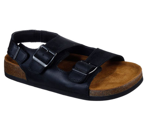 Skechers Men's Krevon Molded Footbed Sandal BLACK