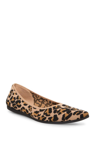 Steve Madden Womens Ramone Pointed-Toe Slip-On Loafer Shoe LEOPARD