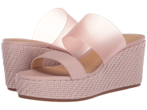 Lucky Brand Women's Brindia Strappy Slip-on Wedge Sandal ADOBE ROSE