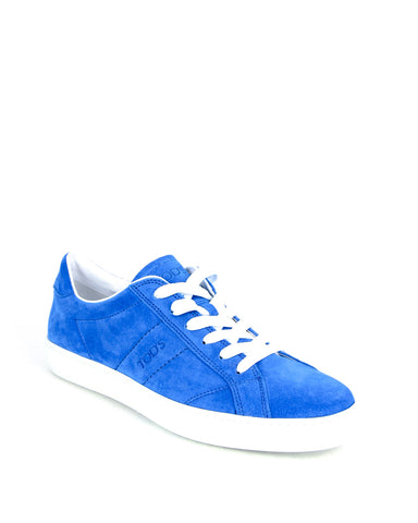 Tod's Men's Allacciato Shoes Trainers Sneaker GENZIANA MEDIO Blue Suede Lace Up
