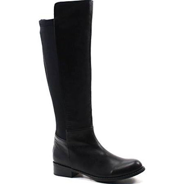 Caliente Play Day Black Vegan Leather Fitted Stretch Gore Elastic Boot