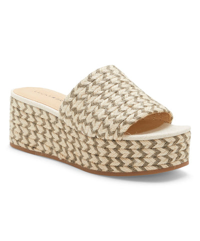 Lucky Brand Women's Befanni Slip-On Espadrille Wedge Sandal FOSSILIZED/NATURAL