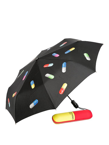 MOSCHINO CAPSULE COLLECTION MINI UMBRELLA BLACK A775582181555
