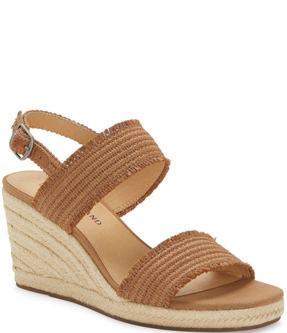 Lucky Brand Women's Minjah Espadrille Jute-Wrapped Wedge Sandal LATTE