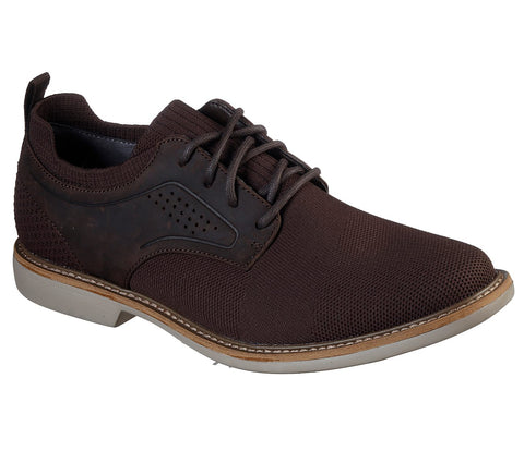 Skechers Men's CLUBMAN - WESTSIDE Fabric LACE UP Oxford CHOCOLATE