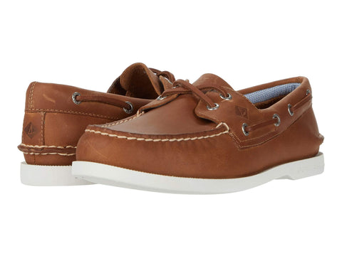Sperry A/O 2 Eye Plushwave Slip On Boat Shoe TAN