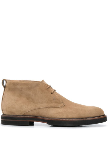Tod's Men's Polacco Suede Leather Lace Up Oxfords Shoes Dessert Boot