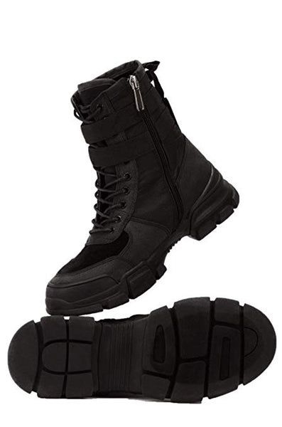 Cape Robbin UTILITY Black Buckle Strap Chunky Sole Utility Sneaker Boot