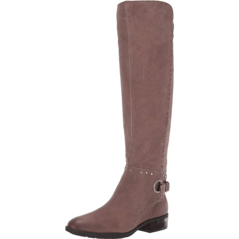 Vince Camuto Women's Poppidal Pointed Toe Suede Knee High Boot ETHEREAL GREY