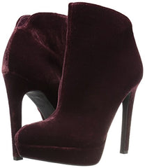 Jessica Simpson Deep Red Zamia Side Zipper Classic Platform Ankle Boot