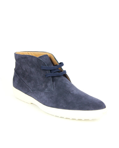 Tod's Men's Polacco Suede Leather Lace Up Sneaker , BLU NAVY