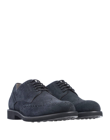 Tod's Men's DERBY Shoes Oxfords Sneakers Black Suede Wingtip