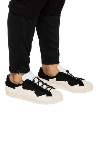 Adidas Y3 Super Takusan Core Black/ White Lace Up Trainers Sneaker