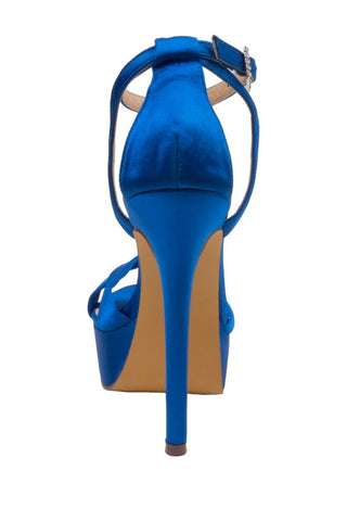Lauren Lorraine Royal Blue Heidi Platform Special Occasion Sandal - Royal Blue