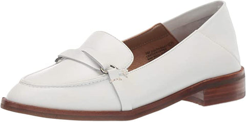 Aerosoles Women's South East Shoe White Leather Slip On Loafer Shoes