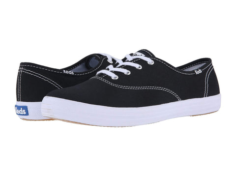 Keds Champion Core Lace Up Fashion Canvas Sneaker BLACK