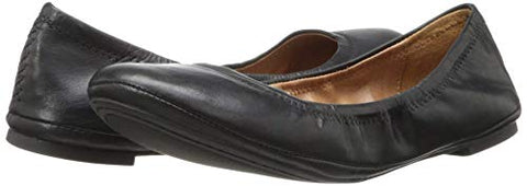 Lucky Brand Women's Lucky Emmie Ballet Flat Black/Leather (6.5)