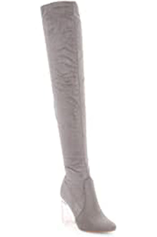 Cape Robbin Fay-2 Over The Knee Stretch Glass Heel Thigh High Boots