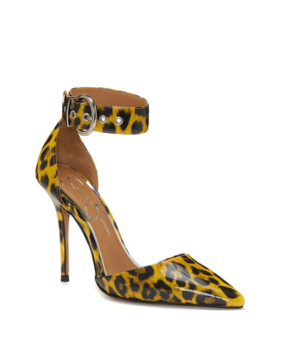Jessica Simpson Waldin bright yellow HIgh Heel P{ointed Toe Stiletto Pumps
