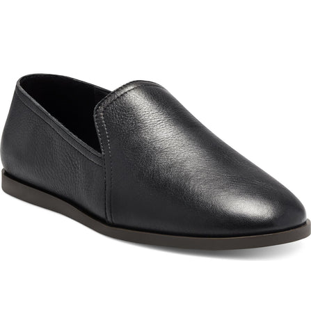 Lucky Brand Brazio Slip-on Black Leather Loafer Flat Loafer